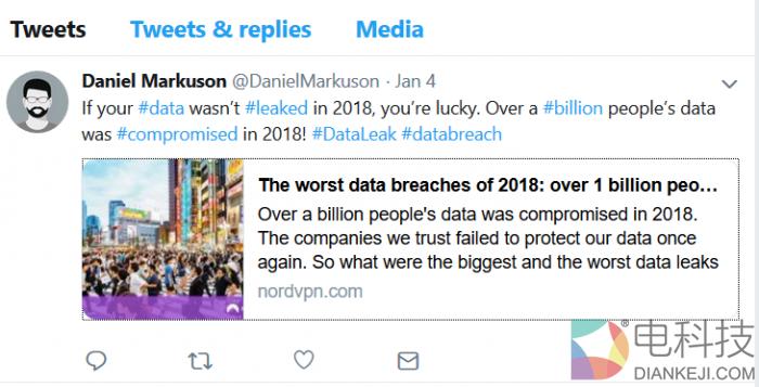 网络安全形势严峻:2018年度共计有10亿网民数据遭外泄