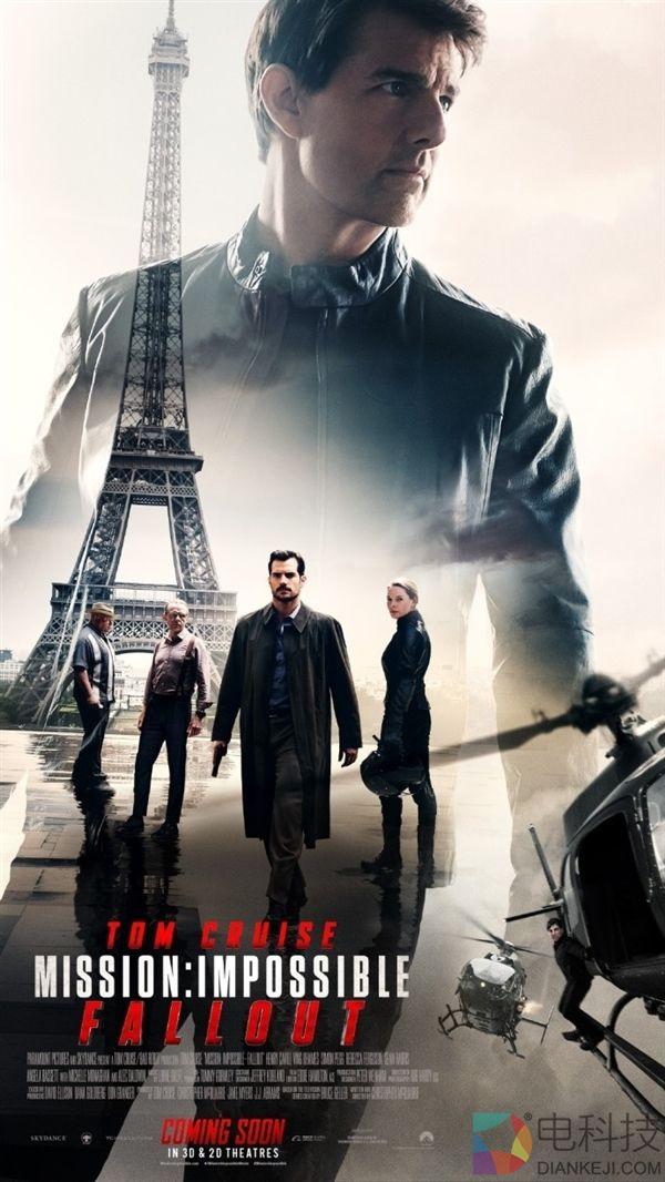 《碟中谍6》曝内地8月3日上映:比美国晚一周