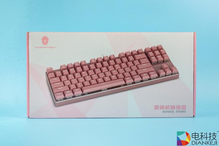 少女风机械键盘,雷神K750C带你玩转游戏人生